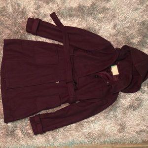 Banana republic plum colored coat...super warm